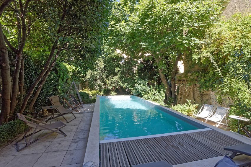 Heated pool in the private garden